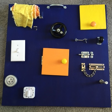 DIY Toddler Busy Board First Birthday Present