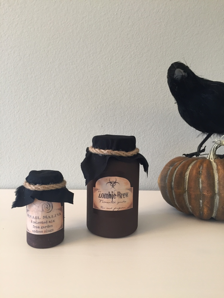Witches Jars and bottles how-to
