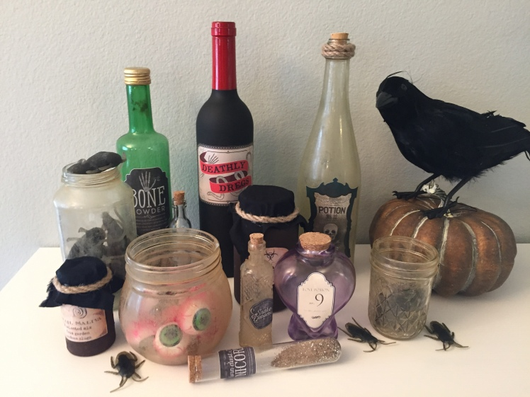 Halloween Decorations DIY Potion Bottles